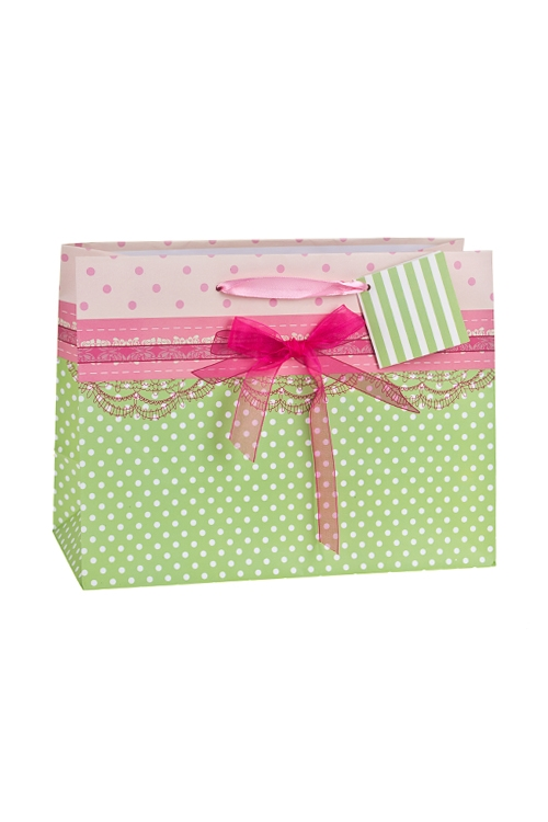 Пакет подарочный АжурСувениры и упаковка<br>25*11.4*19см, бум., матовый, с декором<br>