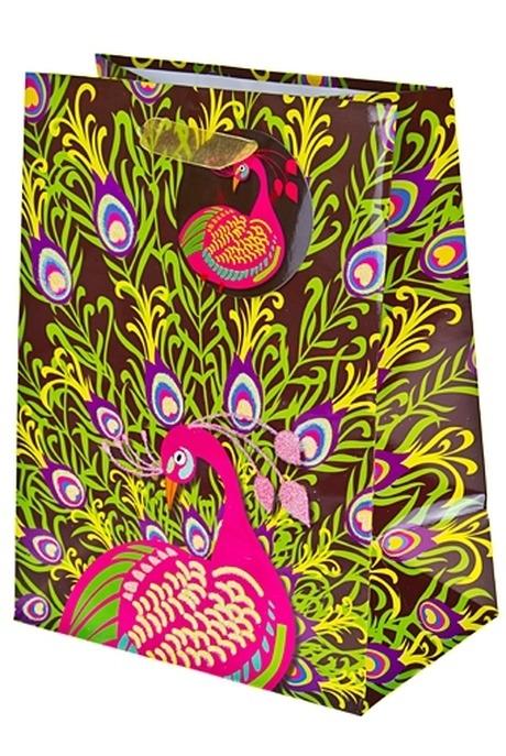 Пакет подарочный Жар-птицаСувениры и упаковка<br>11.1*6.4*14.6см бум. с декором<br>