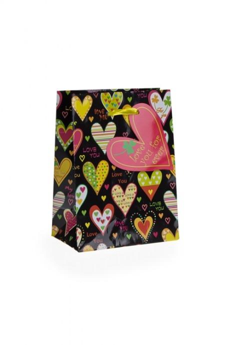 Пакет подарочный Трогательные чувстваПакеты про Любовь<br>11.1*6.4*14.6см, бум.<br>
