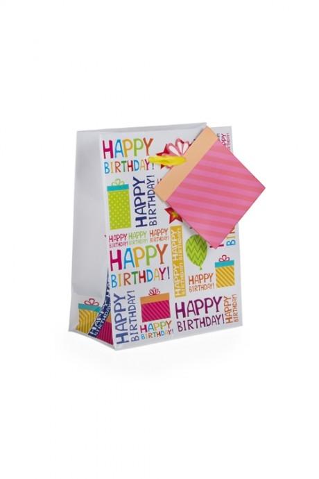 Пакет подарочный В твой деньПакеты «С Днем рождения»<br>11.1*6.4*14.6см, бум.<br>