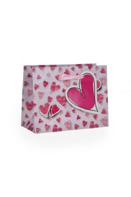 Пакет подарочный Сладкие мечтыСувениры и упаковка<br>14.6*6.4*11.1см, бум., с декором<br>