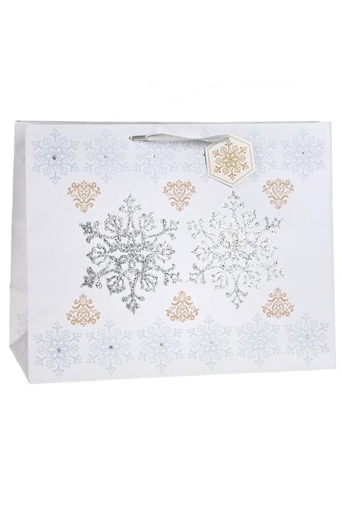 """Пакет подарочный новогодний """"Кристаллы льда"""" - 1"""