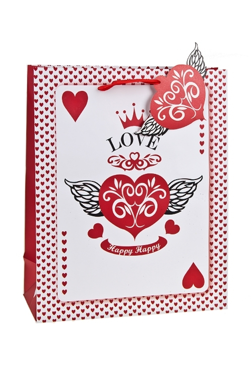 Пакет подарочный Ангел любвиСувениры и упаковка<br>26.4*11.4*32.4см, бум., матовый<br>