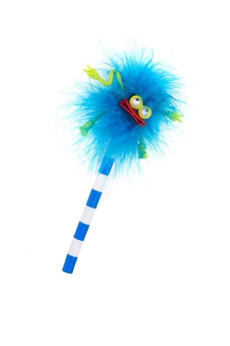 Ручка шариковая Лохматый чудикРучки и карандаши<br>Перо, резина, металл, синяя<br>