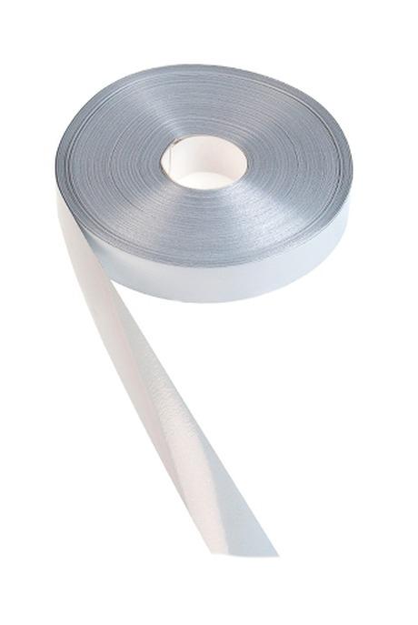 Лента упаковочная ШелкСувениры и упаковка<br>Ш=2см, Дл=100см, белая<br>