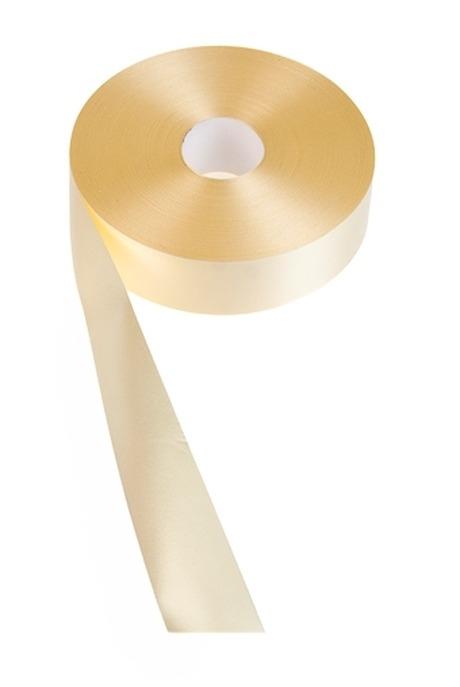 Лента упаковочная ШелкСувениры и упаковка<br>Ш=3см, Дл=100см, желтая<br>