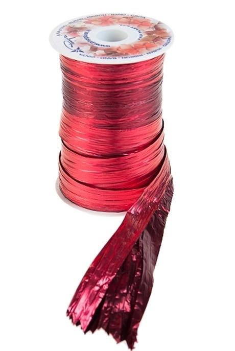Лента упаковочная ПолисилкСувениры и упаковка<br>Ш=12.5см, Дл=100см, красно-борд.<br>