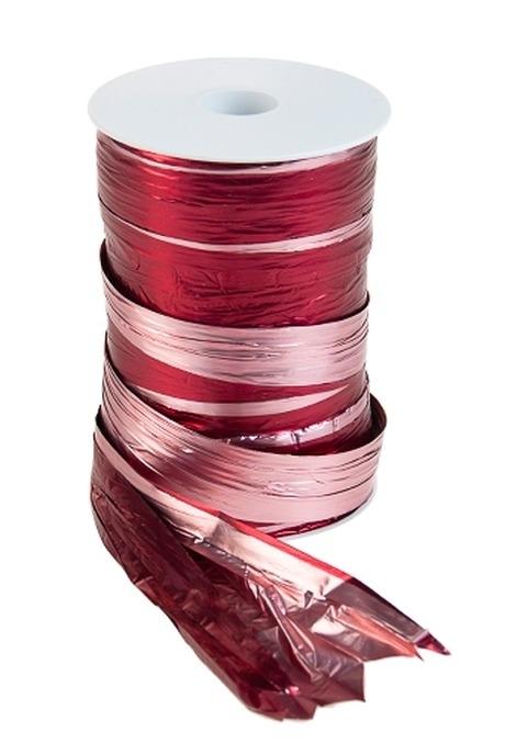 Лента упаковочная ПолисилкСувениры и упаковка<br>Ш=12.5см, Дл=100см, розово-борд.<br>