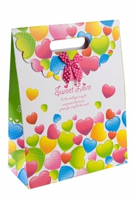 Пакет подарочный Сладкая любовьПакеты на любой повод<br>32*24.5*10.5см, бум., с декором<br>