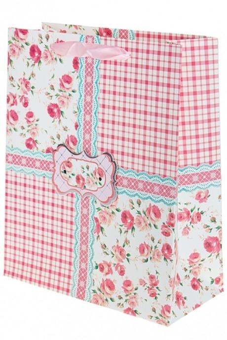 Пакет подарочный ПровансальПодарки на 8 марта<br>26*12*32см, бум., с декором<br>