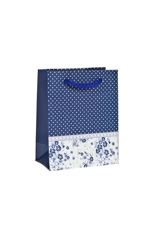 Пакет подарочный ПровансСувениры и упаковка<br>11*14*6см, бум., матовый<br>
