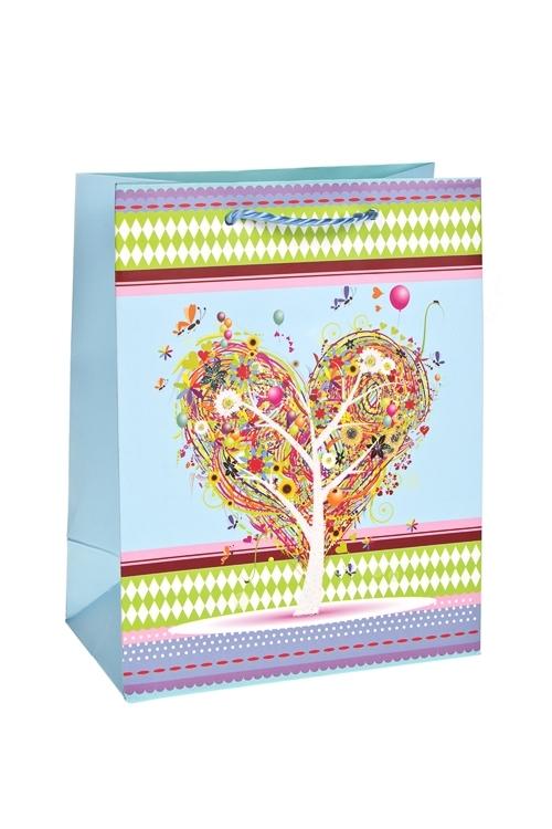 Пакет подарочный Дерево любвиСувениры и упаковка<br>18*10*23см, бум., с декором, матовый<br>