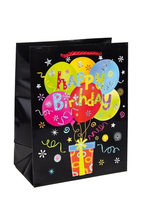 Пакет подарочный Прямо в рукиСувениры и упаковка<br>18*10*23см, бум., с декором, глянцевый<br>
