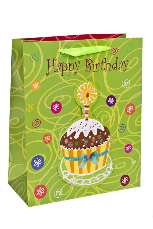 Пакет подарочный Загадай желаниеСувениры и упаковка<br>26*12*32см, бум., с декором, глянцевый<br>