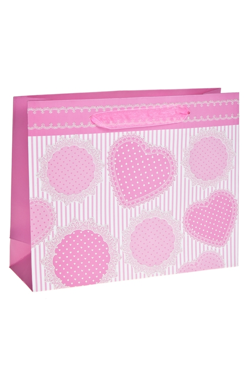 """Пакет подарочный """"Зефирные сердца"""", нежно-розовый - 1"""