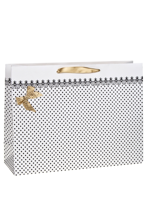 Пакет подарочный УтонченностьСувениры и упаковка<br>41*13*31см, бум., с декором, матовый<br>