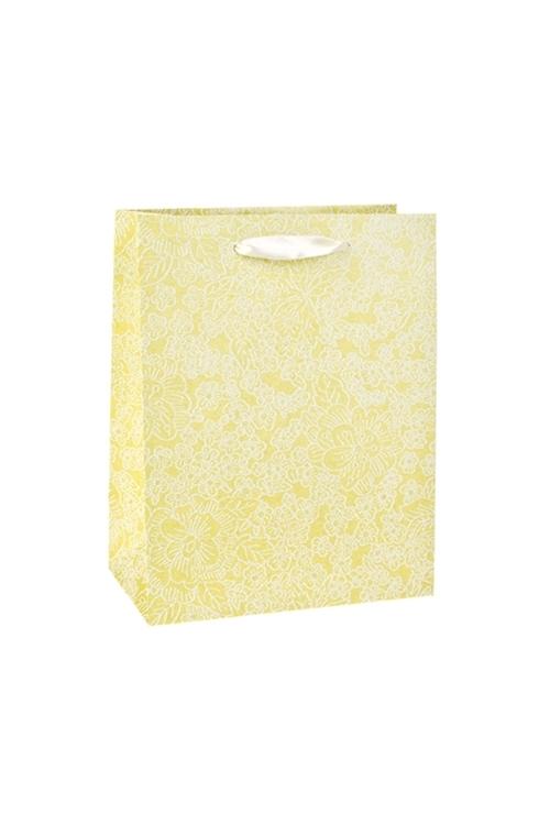 Пакет подарочный Цветочный райСувениры и упаковка<br>18*10*23см, бум., салат., с декором<br>
