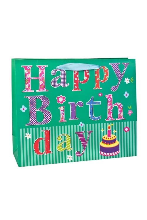 Пакет подарочный Тортик для именинникаСувениры и упаковка<br>32*11*26см, бум., с декором, матовый<br>
