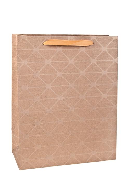 Пакет подарочный Итальянский стильСувениры и упаковка<br>26*12*32см, бум., с декором<br>