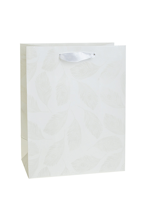 Пакет подарочный ПерышкиСувениры и упаковка<br>18*10*23см, бум.,  матовый<br>