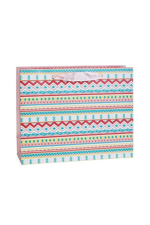Пакет подарочный Загадочный зигзагСувениры и упаковка<br>25*8*20см, бум., матовый<br>