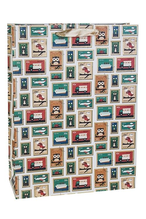 Пакет подарочный Веселые маркиСувениры и упаковка<br>30*12*40см, бум., матовый<br>