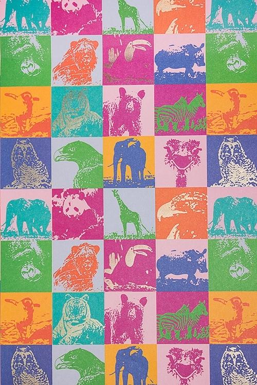 Бумага упаковочная ЗоопаркСувениры и упаковка<br>70*100см<br>