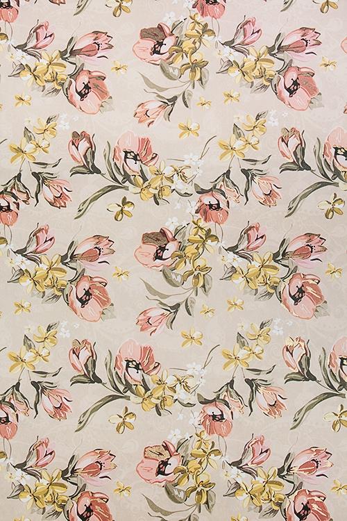 Бумага упаковочная Нежные цветыСувениры и упаковка<br>70*100см<br>
