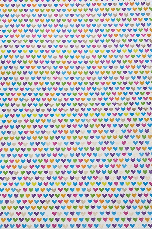 Бумага упаковочная СердечкиСувениры и упаковка<br>70*100см<br>