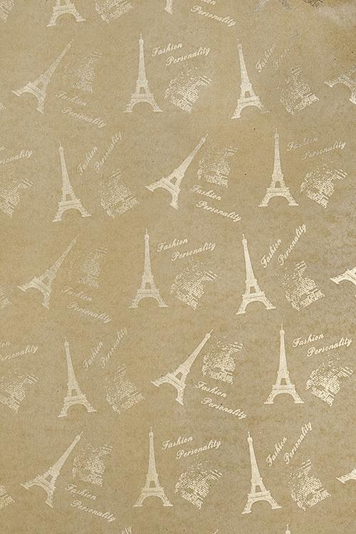 Бумага упаковочная О, ПарижСувениры и упаковка<br>70*100см<br>