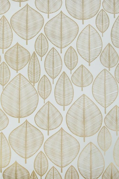 Бумага упаковочная Золотые листикиСувениры и упаковка<br>70*100см<br>