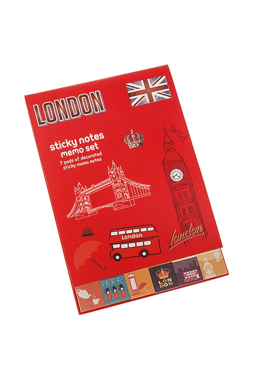 Записная книжка с мемо-листками ЛондонМемо-листики и доски<br>10.5*15.5см, 30 листов, бум.<br>