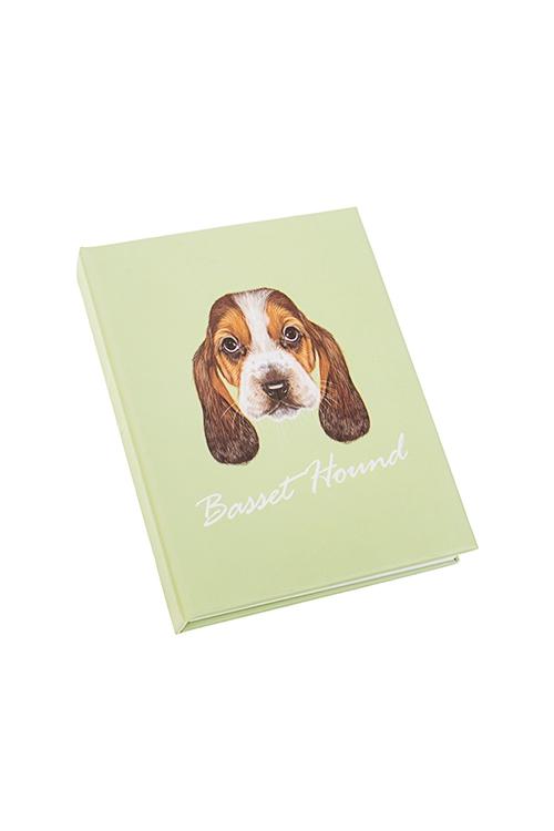 Записная книжка с мемо-листками  Бассет хаунд  - артикул:ea87fb