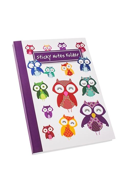 Записная книжка с мемо-листками СовушкаМемо-листики и доски<br>16*11см, 70 листов, бум. (листы 3-х размеров)<br>