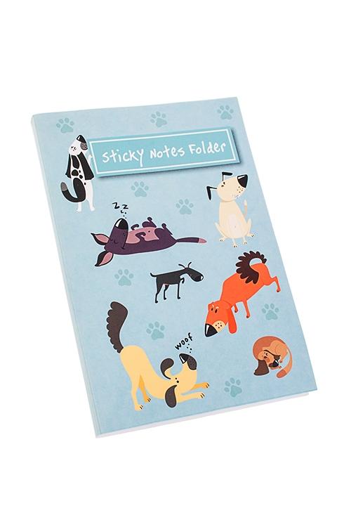 Записная книжка с мемо-листками Веселые песикиМемо-листики и доски<br>16*11см, 70 листов, бум. (листы 3-х размеров)<br>