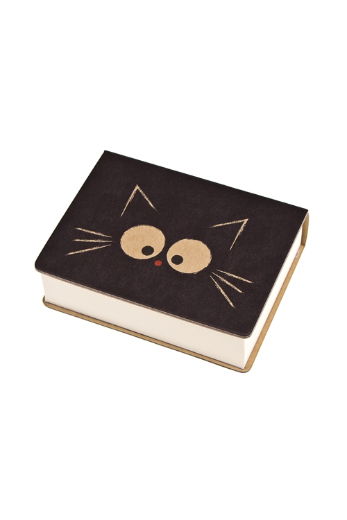Записная книжка Задумчивый котикЗаписные и телефонные книжки<br>6.5*8.6см, бум., нелинов.<br>