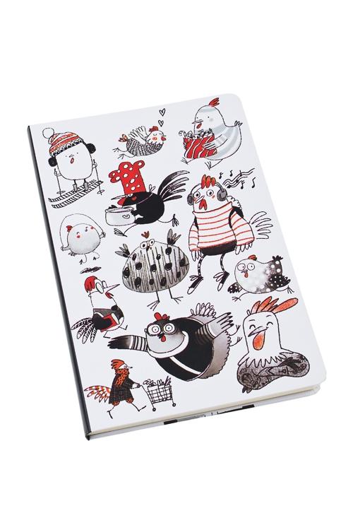 Записная книжка Веселые цыплятаУчеба и работа<br>14*21см, бум., 96 листов, нелинов.<br>