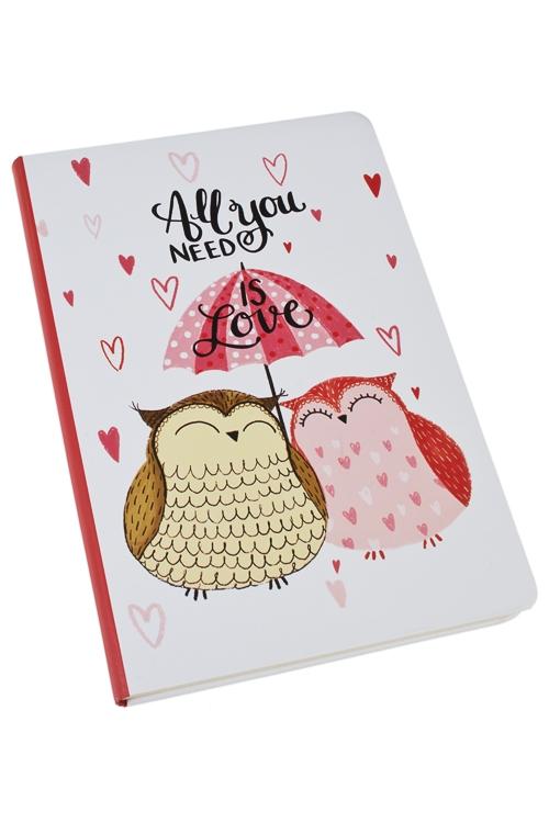 Записная книжка Только любовьУчеба и работа<br>14*21см, 90 листов, бум., нелинов.<br>