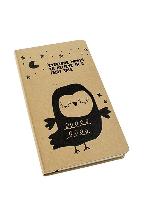Записная книжка Задумчивая сова записная книжка dolce vita 96 листов i283 blue
