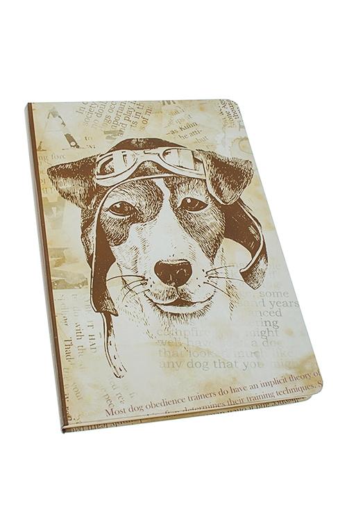 Записная книжка Пес СчастливчикЗаписные и телефонные книжки<br>14*21см, 96 листов, бум., нелинов.<br>