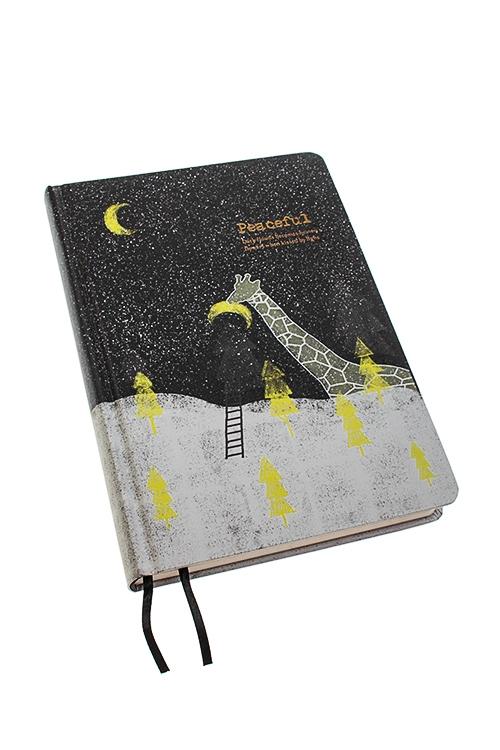 Записная книжка ЖирафЗаписные и телефонные книжки<br>13*19см, 112 листов, бум., в линейку<br>