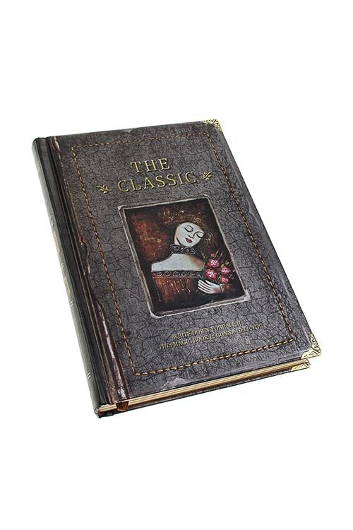 Записная книжка Дама с цветамиУчеба и работа<br>13*19см, 120 листов, бум., в линейку и нелинов.<br>