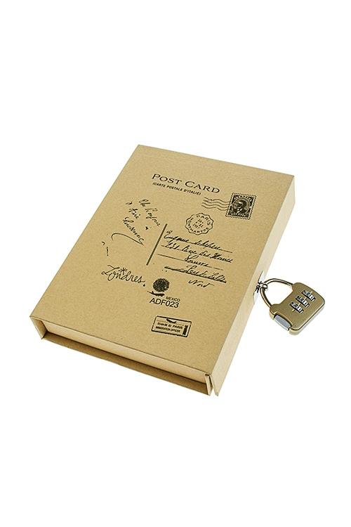 Записная книжка РетроЗаписные и телефонные книжки<br>11*15см, 120 листов, бум., в коробке с замком<br>