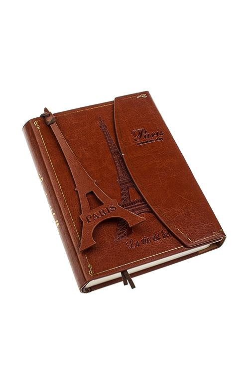 Записная книжка ПарижЗаписные и телефонные книжки<br>11*15см, 120 листов, бум., искусств. кожа, в линейку, с закладкой<br>
