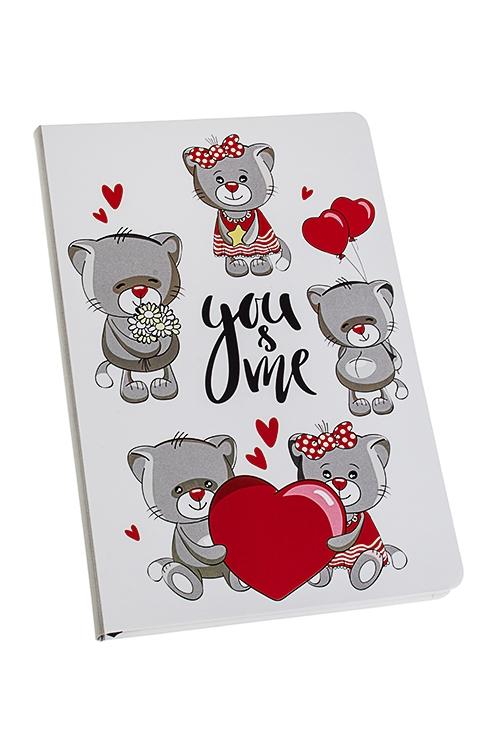 Записная книжка Котики в любвиУчеба и работа<br>14*21см, 90 листов, бум., нелинов.<br>
