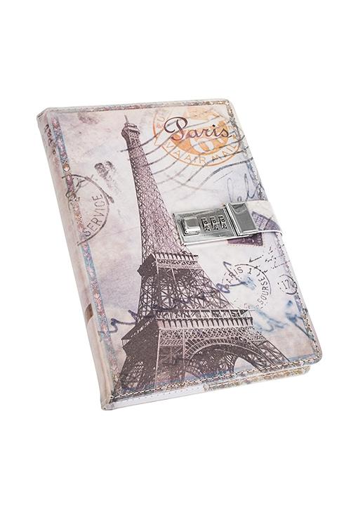 Записная книжка Эйфелева башняУчеба и работа<br>15*22см, 96 листов, в линию, бум., с кодовым замком<br>