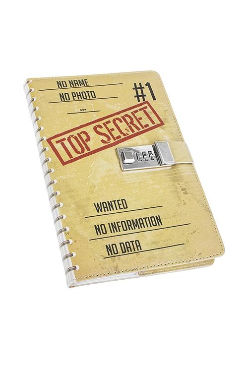 Записная книжка Совершенно секретноУчеба и работа<br>15*22см, 96 листов, в линию, бум., с кодовым замком<br>