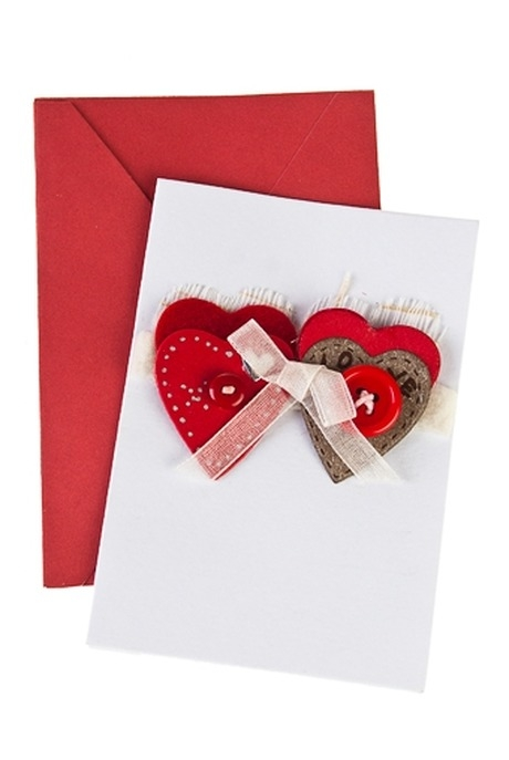 Открытка подарочная Союз сердецОткрытки ручной работы<br>7*10см, с конвертом, ручная работа<br>