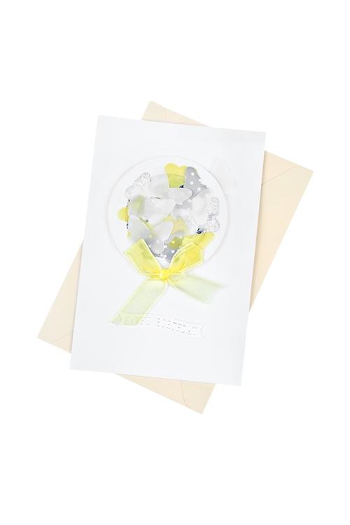 Открытка подарочная Полет бабочекСувениры и упаковка<br>8*12см, с конвертом, ручная работа<br>