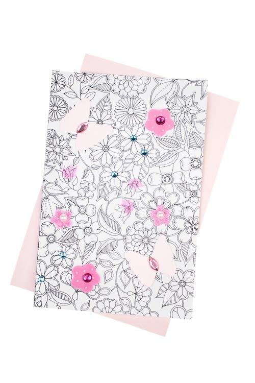 Набор для создания открытки ЦветочкиОткрытки<br>10*15см (конверт, открытка, элементы декора), бум.<br>